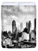 New York City Skyline Sketch Duvet Cover