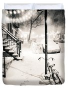 New York City - Snow Duvet Cover by Vivienne Gucwa