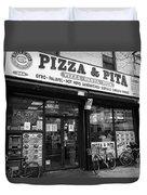 New York City Storefront Bw6 Duvet Cover