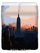 New York City Sunset Duvet Cover
