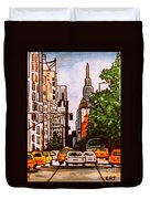 New York City Taxis Duvet Cover