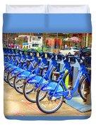 New York Citybike 1 Duvet Cover