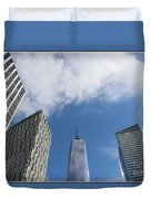 New York City's Freedom Tower - A Perspective Duvet Cover