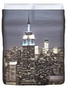 New York Empire State Building Blurred  Duvet Cover