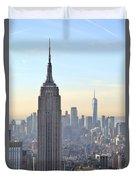 New York Empire State Building Duvet Cover