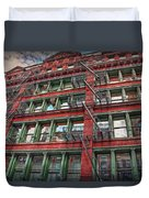 New York Fire Escapes Duvet Cover