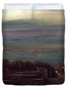 New York Harbor Duvet Cover