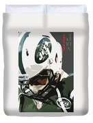 New York Jets Football Team And Original Typography Duvet Cover
