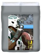 New York Jets Football Team And Original Yellow Typography Duvet Cover