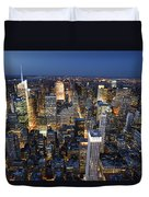 New York Lights Duvet Cover