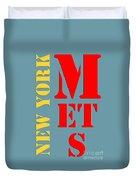 New York Mets Baseball New Typography Duvet Cover