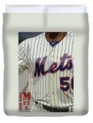 New York Mets Baseball Team And New Typography Duvet Cover