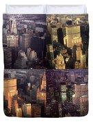 New York Mid Manhattan Medley - Photo Art Poster Duvet Cover