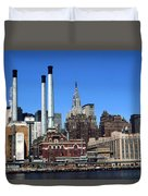 New York Mid Manhattan Skyline Duvet Cover