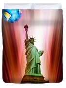 New York Nyc - Statue Of Liberty 2 Duvet Cover