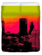 New York Pink Duvet Cover