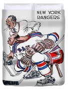 New York Rangers 1960 Program Duvet Cover
