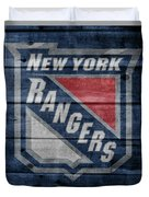 New York Rangers Barn Door Duvet Cover