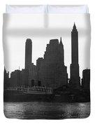 New York Silhouette At Dusk Duvet Cover