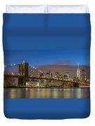 New York Skyline - Brooklyn Bridge - 4 Duvet Cover