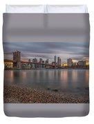 New York Skyline - Brooklyn Bridge - 9 Duvet Cover