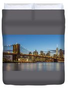 New York Skyline - Brooklyn Bridge Duvet Cover