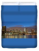 New York Skyline - Brooklyn Bridge Panorama - 2 Duvet Cover