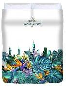 New York Skyline Floral  6 Duvet Cover