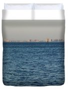 New York Skyline Duvet Cover by Robbie Masso