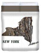 New York State Map Duvet Cover