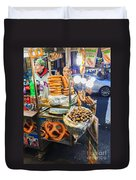 New York Street Vendor Duvet Cover