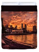 New York Sunset Duvet Cover