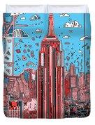 New York Urban Colors 2 Duvet Cover