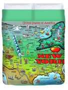 New York Usa Duvet Cover