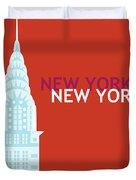 New York Vertical Scene - Chrysler Building Duvet Cover