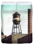 New York Water Towers 19 - Urban Industrial Art Photography Duvet Cover by Gary Heller