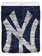 New York Yankees Brick Wall Duvet Cover