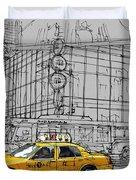 New York Yellow Cab Duvet Cover