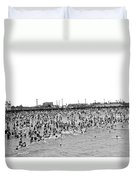 New Yorkers At Coney Island. Duvet Cover