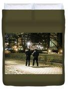 New Yorks Finest Walking The Beat Duvet Cover