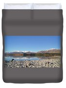 New Zealand Lake Duvet Cover