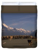 New Zealand Mt Cook Duvet Cover