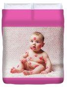 Newborn Baby Gir Filled Kisses Duvet Cover