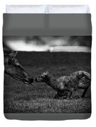 Newborn Elk Duvet Cover