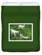 Newborn Goats Duvet Cover