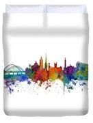 Newcastle England Skyline Custom Panoramic Duvet Cover