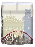 Newcastle Skyline Poster Duvet Cover