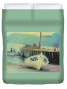 Newfoundland Fishing Port Impressions Duvet Cover