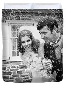 Newlyweds Showered With Rice, C.1960-70s Duvet Cover