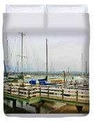 Newport Bay And Balboa Island Duvet Cover